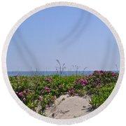 Dune Roses Round Beach Towel