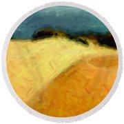 Dunes 1 Round Beach Towel