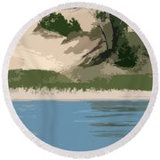 Dunes Of Lake Michigan Round Beach Towel