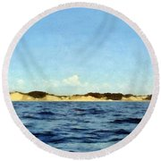Dunes Panorama Round Beach Towel by Michelle Calkins