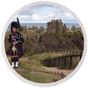 Dunnottar Piper Round Beach Towel by Eunice Gibb