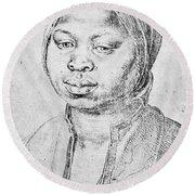 Durer Slave Woman, 1521 Round Beach Towel