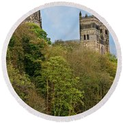 Durham Cathedral From River Wear Round Beach Towel
