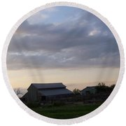 Round Beach Towel featuring the photograph Dusk To Dawn by Bobbee Rickard