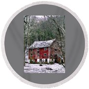 Pennsylvania Dusting Round Beach Towel by Michael Hoard