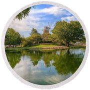 Round Beach Towel featuring the photograph Dutch Mill  by Liane Wright