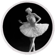 Dying Swan 3. Round Beach Towel
