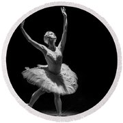 Dying Swan 6. Round Beach Towel