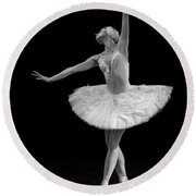Dying Swan 9. Round Beach Towel