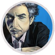 Dylan Round Beach Towel by Kelly Jade King