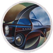 Dynamic Route 66 Round Beach Towel