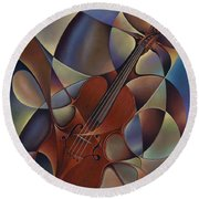 Dynamic Violin Round Beach Towel