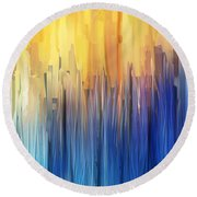Each Day Anew Round Beach Towel