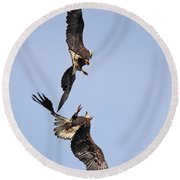 Eagle Ballet Round Beach Towel
