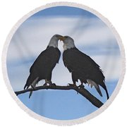 Eagle Love Round Beach Towel