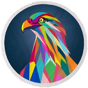 Eagle Round Beach Towel by Mark Ashkenazi