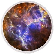 Eagle Nebula Round Beach Towel