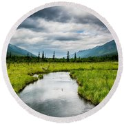 Eagle River Nature Center Round Beach Towel