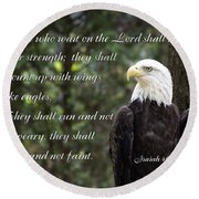 Eagle Scripture Isaiah Round Beach Towel
