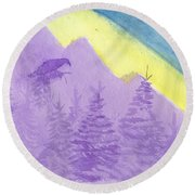 Eagle View Round Beach Towel