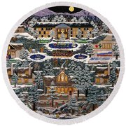 Eaglecrest Resort Round Beach Towel
