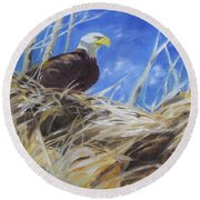 Eagles Nest Round Beach Towel