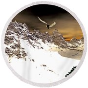 Eagles' Peak Round Beach Towel