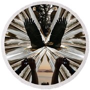 Eagle's Song Round Beach Towel