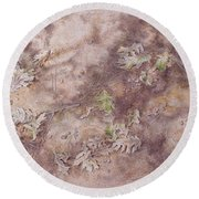 Early Fall Round Beach Towel by Michele Myers