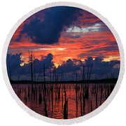 Early Light Round Beach Towel