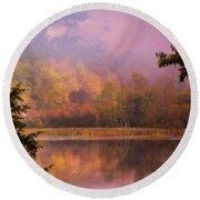 Early Morning Beauty Round Beach Towel by Sherman Perry