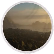 Early Morning Fog At Quoddy Round Beach Towel