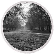 Early Morning In Hyde Park Round Beach Towel