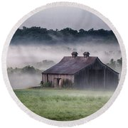 Early Morning In The Mist Standard Round Beach Towel