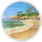 Early Morning Laguna Round Beach Towel