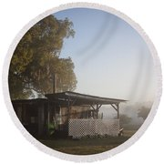 Round Beach Towel featuring the photograph Early Morning On The Farm by Lynn Palmer