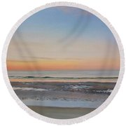 Early Morning Sky Round Beach Towel