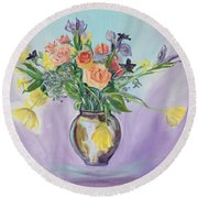Early Spring Bouquet Round Beach Towel