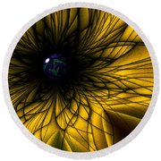 Earth Flower Round Beach Towel