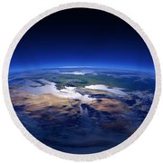 Earth - Mediterranean Countries Round Beach Towel