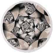 Round Beach Towel featuring the digital art Earth Tones by Gabiw Art