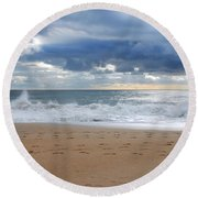 Earth's Layers - Jersey Shore Round Beach Towel