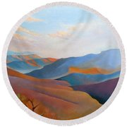 East Fall Blue Ridge No.3 Round Beach Towel