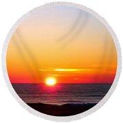 East. Sleep. Beach Sunrise Round Beach Towel