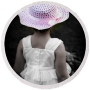 Round Beach Towel featuring the photograph Easter Angel by Jeanette C Landstrom