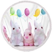 Easter Bunny Toys Round Beach Towel by Elena Elisseeva