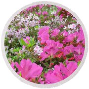 Easter Colors  Round Beach Towel