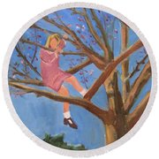Easter In The Apple Tree Round Beach Towel