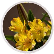 Easter Lilies Round Beach Towel by Sandi OReilly