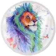 Easter Lion Round Beach Towel